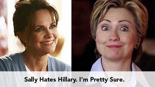 Sally Hates Hillary. Probably.
